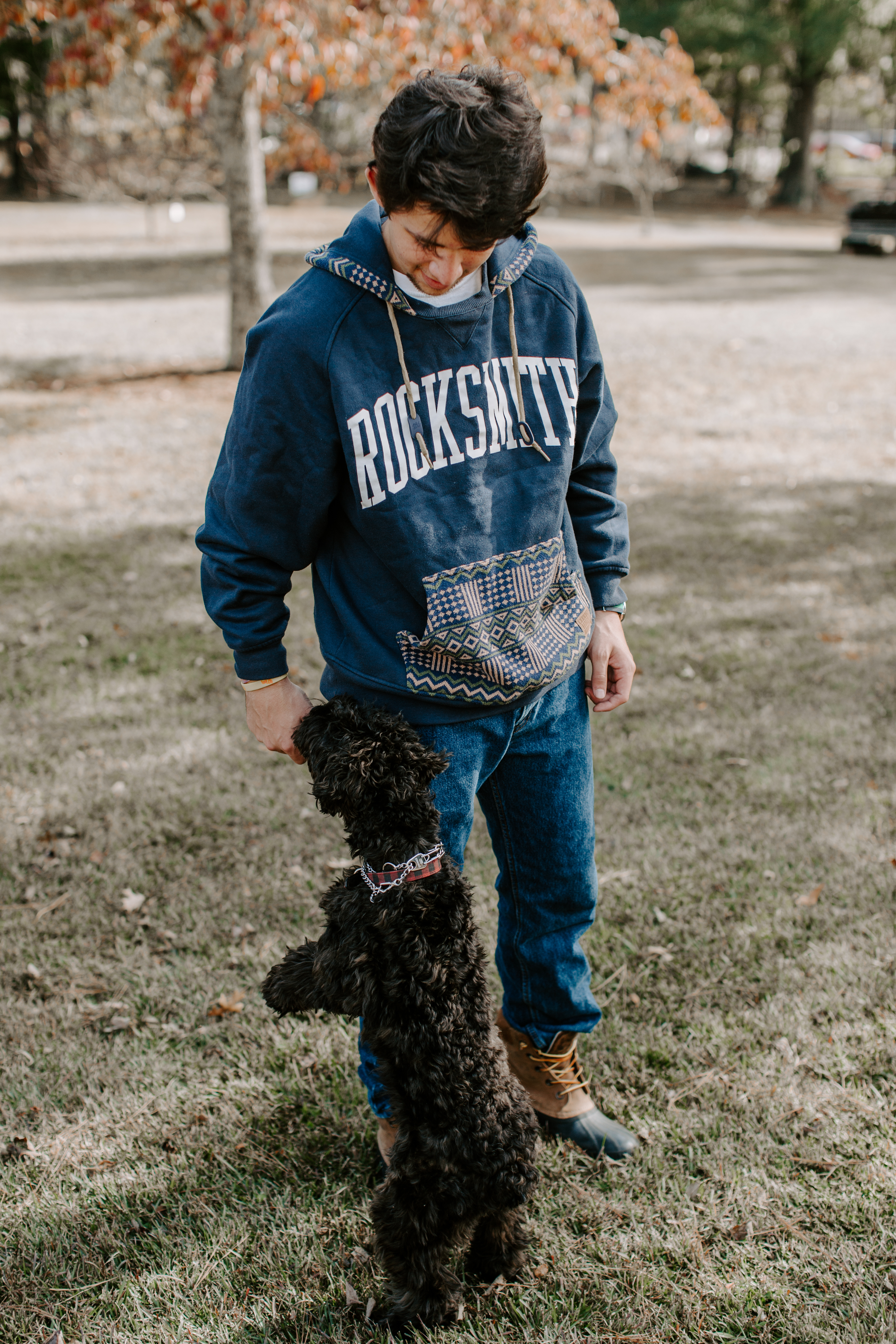 Christian O. Senior pictures collared shirt button up stairs poses pictures baseball senior garden dog and man open field golden hour sweatshirt