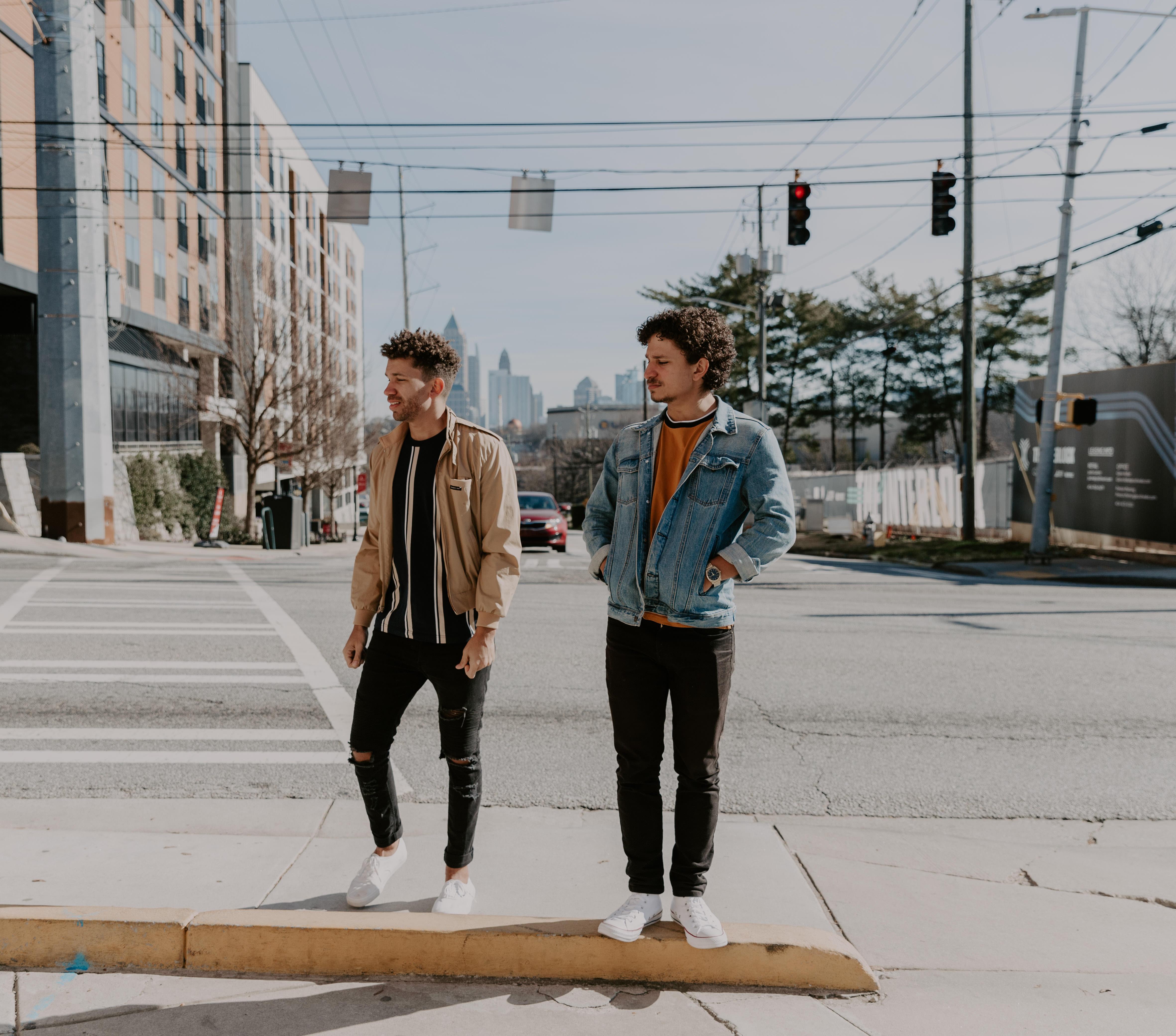 Atlanta Exploring lifestyle rooftop urban photoshoot styled shoot golden hour city background