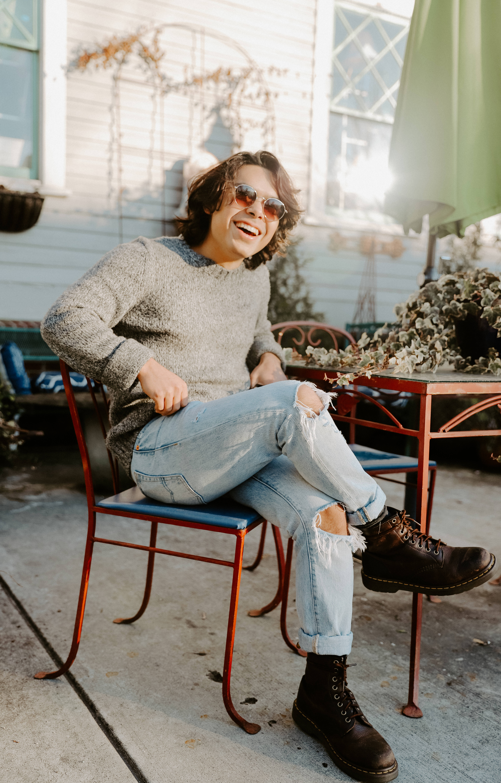 Sonny Vargas Atlanta Krog Street Portraitt Blue Sweater Downtown Summer Ponce
